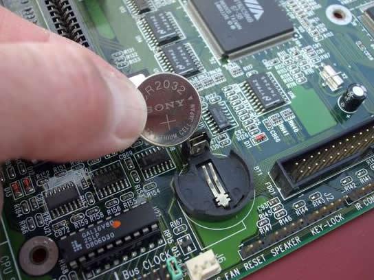 inlocuire baterie bios pc